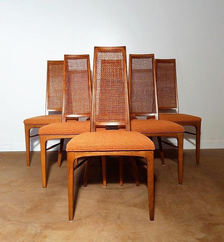 Mid Century Modern Highback Dining Chair Set, Rhythm ...