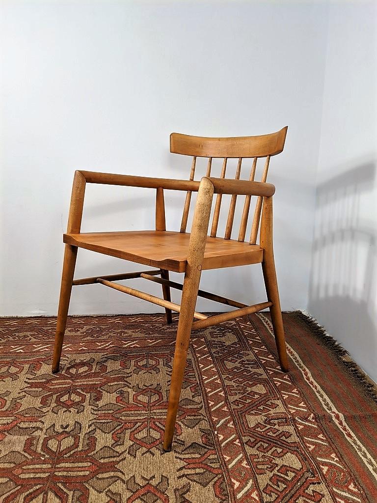 Mid Century Modern Solid Maple Armchair Paul Mccobb Epoch