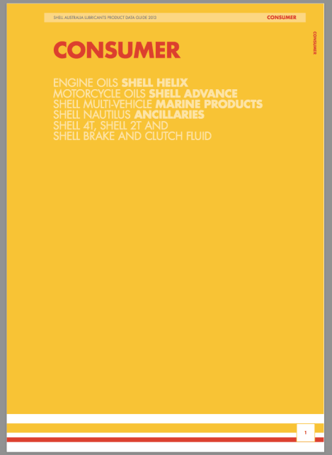 Shell consumer lubricants brochure