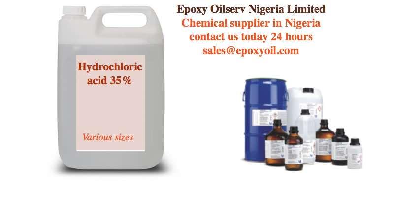 hydrochloric HCL acid supplier in Nigeria