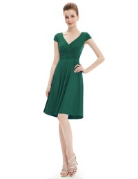 Ever Pretty Short Casual Dress for Women V-Neck A-Line ...