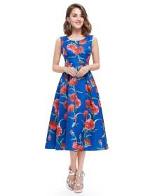 Knee Length Floral Summer Dress