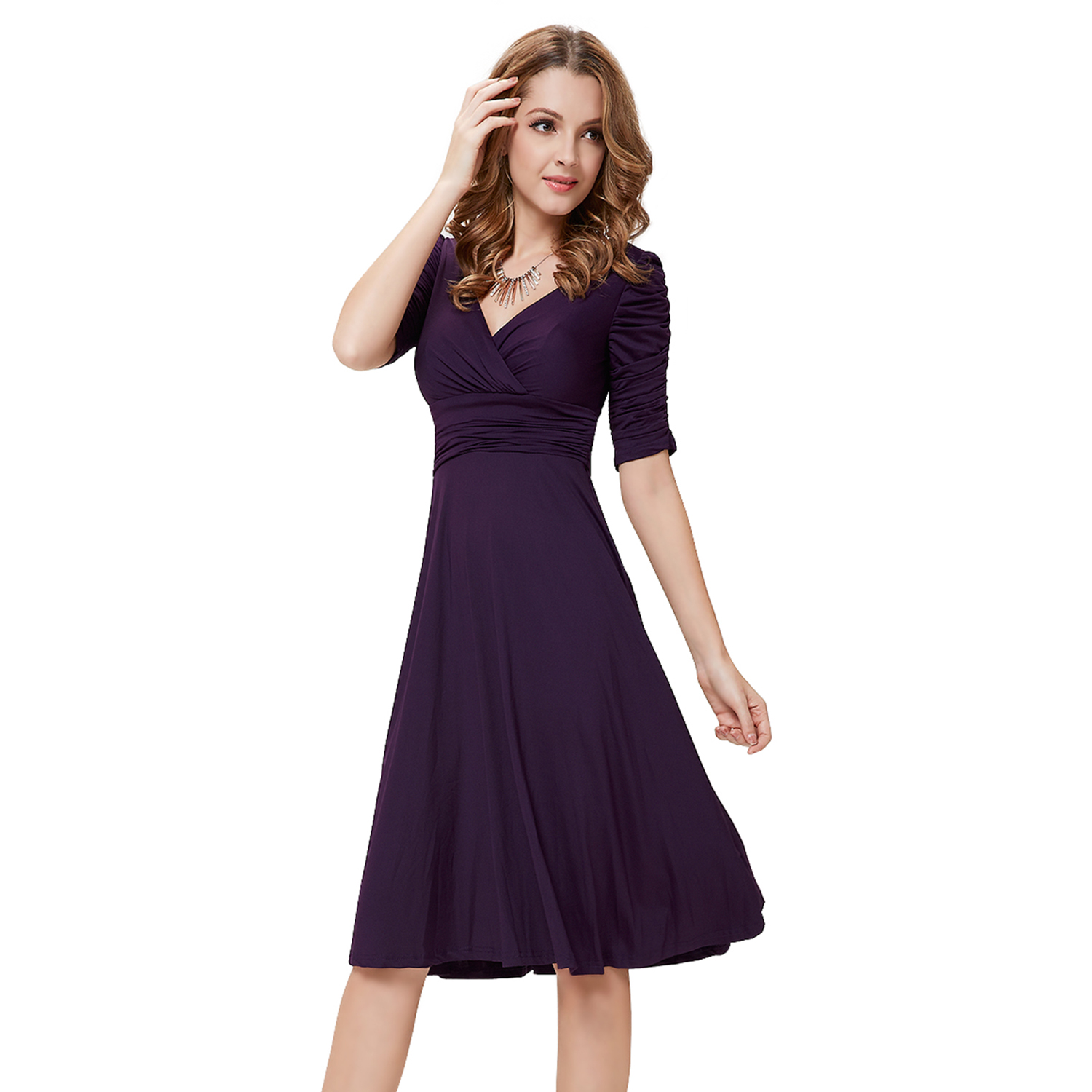Women Short Sexy Sleeves Prom Party Casual Cocktail Club Ball Gown Dresses 03632  eBay