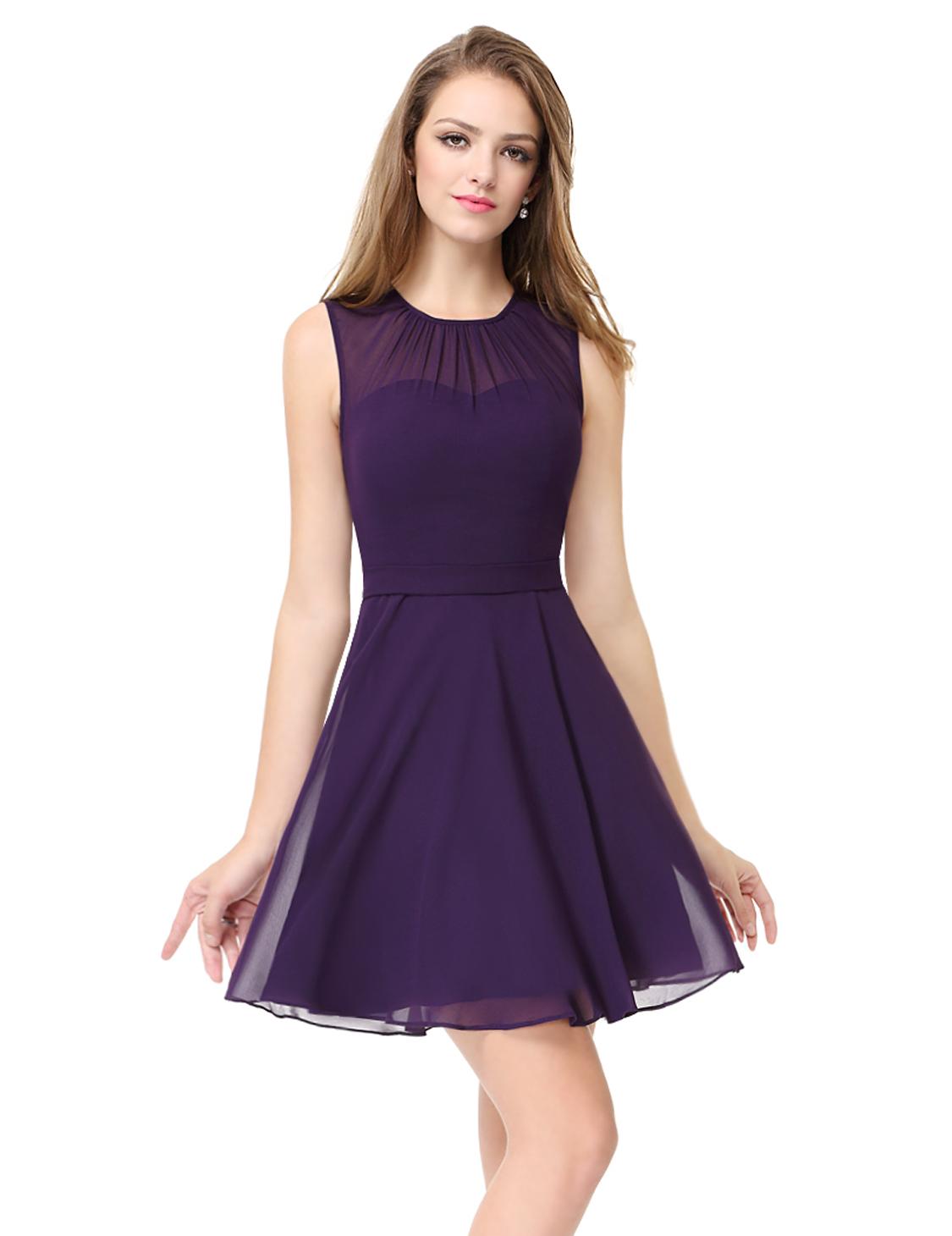 Alisa Pan Mini Sleeveless Casual Dresses Lace Round Neck Party Dresses 05253  eBay