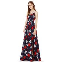 Long Floral Print Dresses