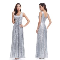 Ever-Pretty Women's Silver Formal Evening Dresses 07086 ...
