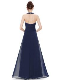 Women's Maxi Halter Bridesmaid Dress Evening Wedding Prom ...