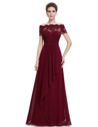 Ever-pretty Long Off-shoulder Formal Evening Dresses ...