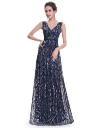 Women's Prom Evening Party Dress Sequins Elegant Formal ...