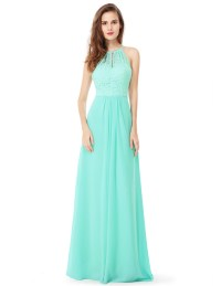 Ever-Pretty Lace Bridesmaid Dresses Chiffon Ball Gown Prom ...