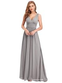Ever-Pretty Long Bridesmaid Dress Chiffon Formal Evening ...