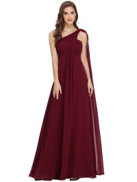 One-shoulder Formal Evening Ball Gown Party Prom ...
