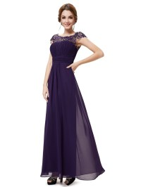 Ever Pretty Long Lace Wedding Bridesmaid Evening Formal ...