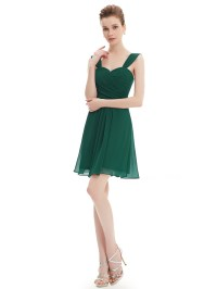 UK Ladies Short Chiffon Cocktail Party Gown Bridesmaid ...