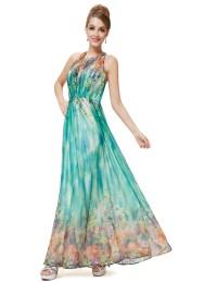 UK Long Women Summer Beach Dress Floral Evening Prom 08258 ...