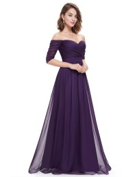 Ever-Pretty Chiffon Evening Formal Long Sleeve Ball Gown ...