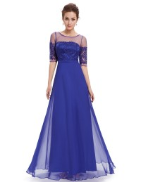Long Half-sleeve Bridesmaid Wedding Dress Cocktail Prom ...