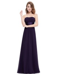 Women's Long Strapless Bridesmaid Party Dresses Formal