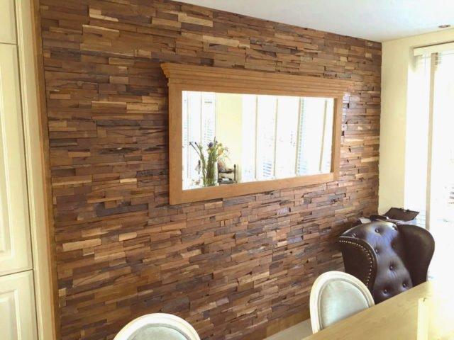 Houtstrips 3d houten wandbekleding   Eppinganl