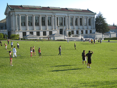 Doe Library and Memorial Glade