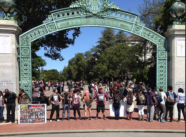 Sather Gate protest