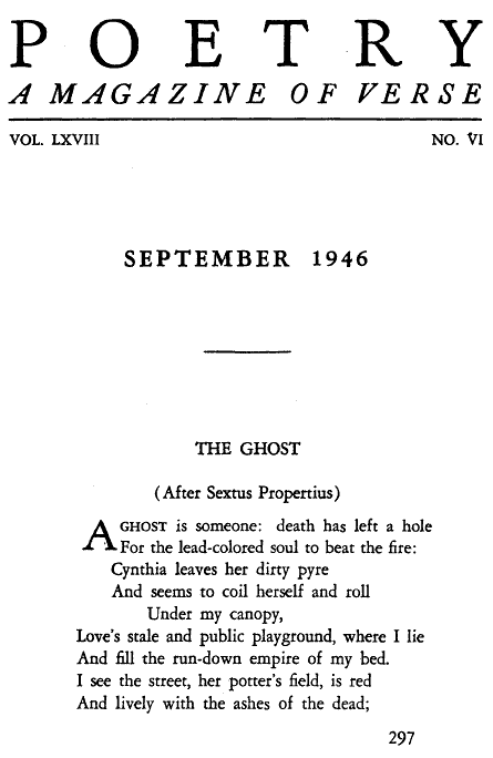 """The Ghost"" by Robert Lowell"