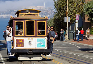 Cable Car of the Powell-Hyde line in San Francisco