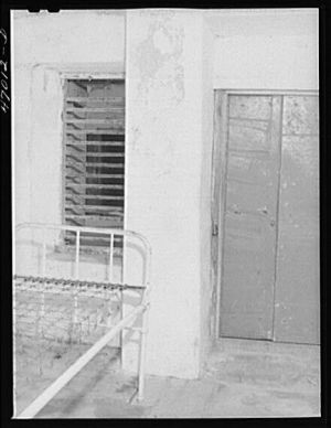 One of the cells for the insane at the Frederiksted hospital, Saint Croix Island, Virgin Islands.