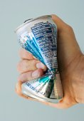 Crushing an aluminum can