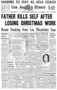 Dec. 25, 1957 Los Angeles Times cover