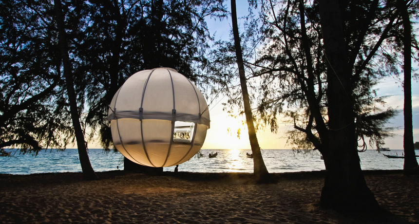 Cocoon Tree: la tenda chic che si appende all'albero