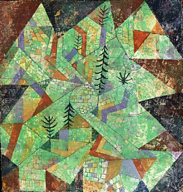 Wald Bau (1919) - Paul Klee