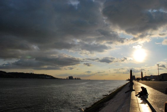 lisbona-tago-tramonto