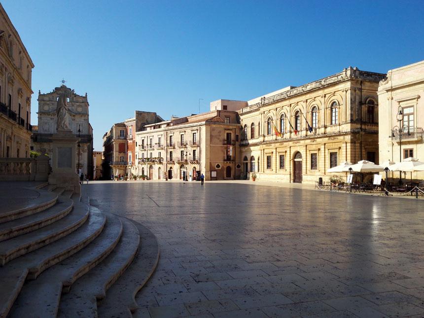 La piazza di Siracusa
