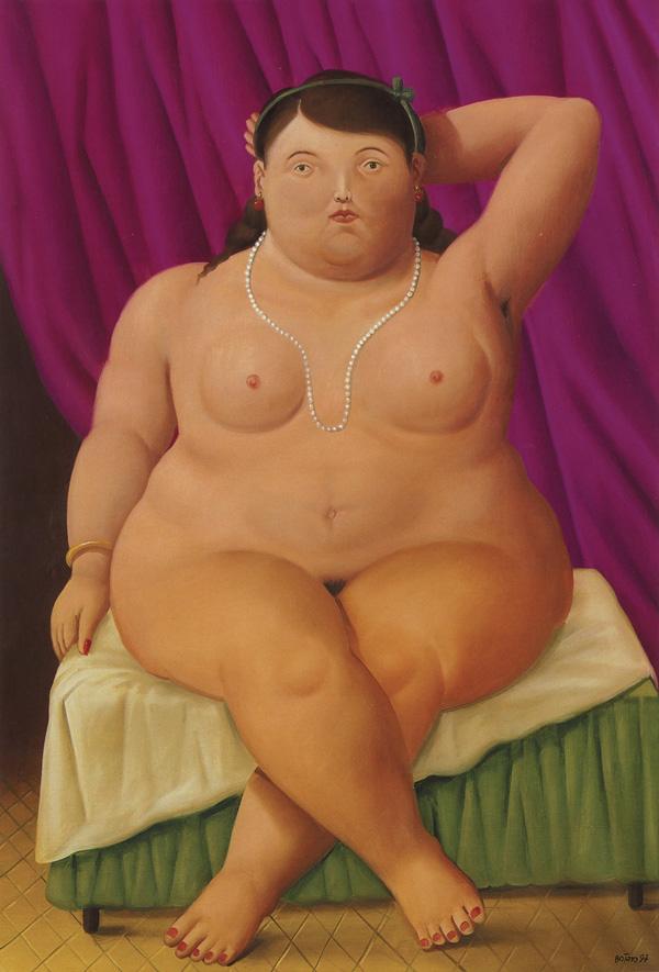 Donna seduta Botero