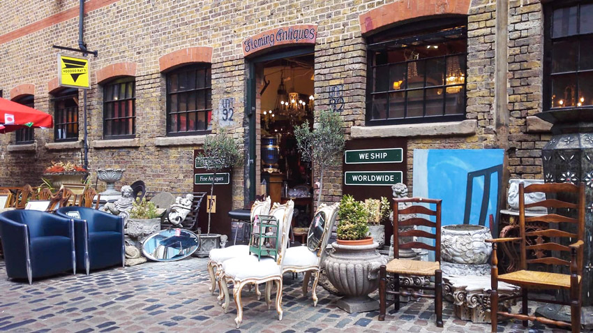 Londra, negozi a Camden Town