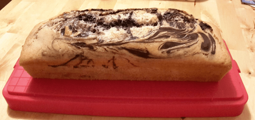 Plumcake all'acqua marmorizzato con Monsieur Cuisine Plus