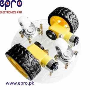 2 Wheel Round Self Balancing Robot Car Chassis Kit un-assembled in Pakistan