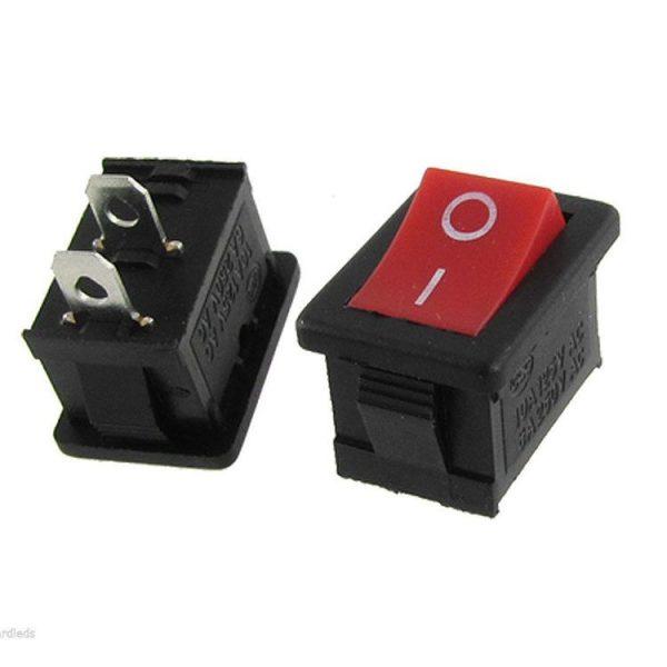 Red-Rocker-Boatlike-Switch-Kcd1-101-250V-6A-2pin
