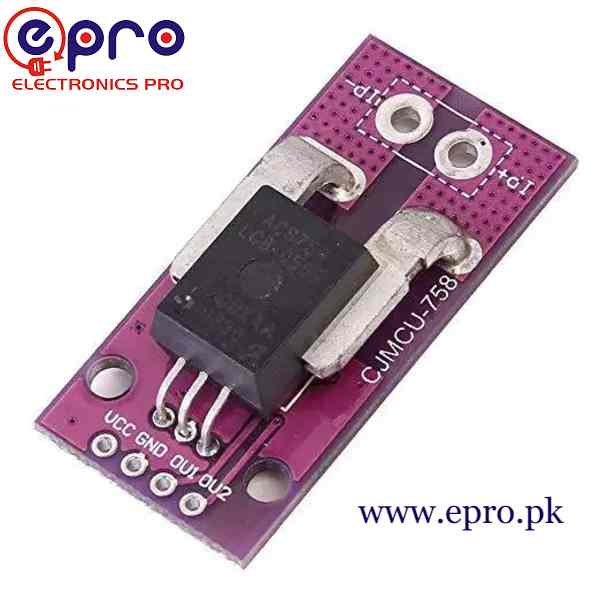ACS758 100amp Range Linear Current Sensor for Arduino