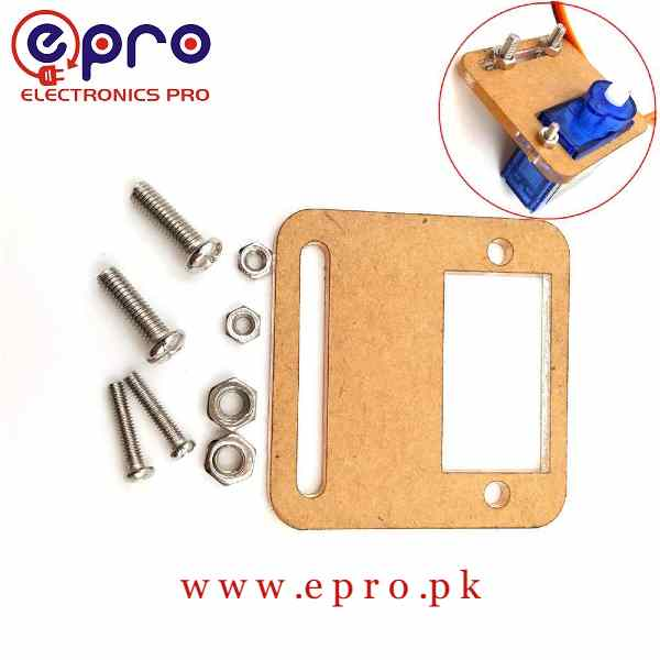 Servo Motor SG90 Acrylic Bracket PMMA for DIY Smart Car RC Robot Helicopter Airplane Boat Control in Pakistan
