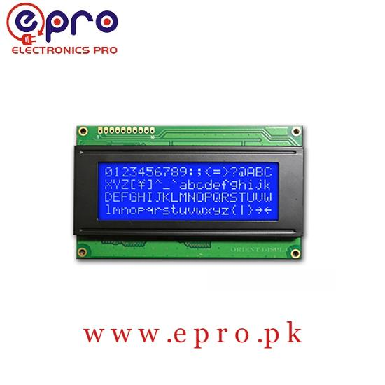 2004A 20x 4 Character Blue Color LCD Display for Arduino in Pakistan