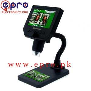 G600 Digital Microscope G-600 Digital Microscope 4.3in HD LED 3.6MP 1-600X Continuous Magnifier with LCD in Pakistan