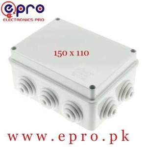 ABS Material Plastic Enclosure, Waterproof Junction Connector Boxes, IP65 Project Electronics Enclosure, Weatherproof Electrical Outlet Box 150 x 110 in Pakistan