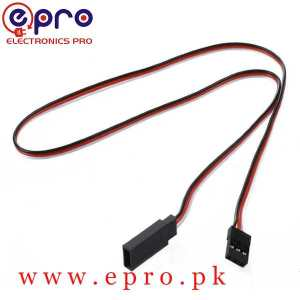 3 Pin Servo Extension Cable Male to Female 30cm in Pakistan