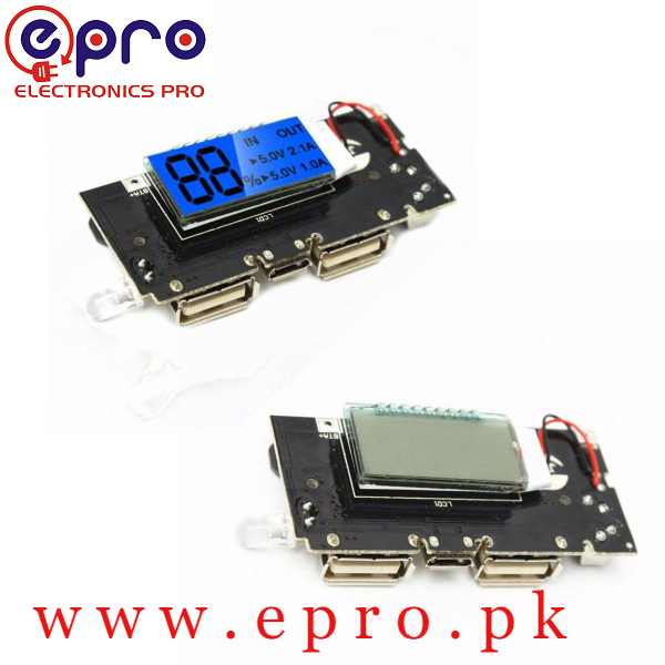 Dual USB 5V 1A 2.1A Power Bank Charging Module Circuit with Digital Display in Pakistan