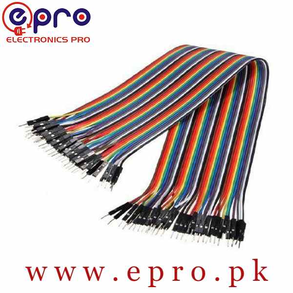 Male to Male 10cm 20cm 30cm Jumper Wires in Pakistan