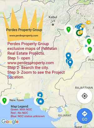 Pakistan Housing Schemes Locations Map with NOC Status