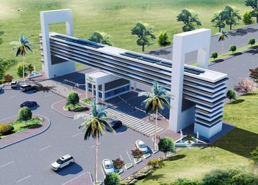 DHA Multan Gate Ariel Render