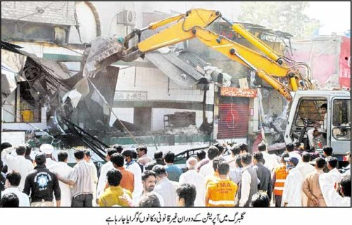 Lahore Operation Clean up in Liberty Market